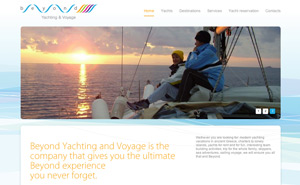 Web design and website development for Beyond Yachting and Voyage
