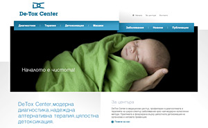 Website design and development for Detox Center medical center