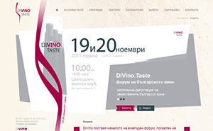 Website design and development for DiVino.Taste