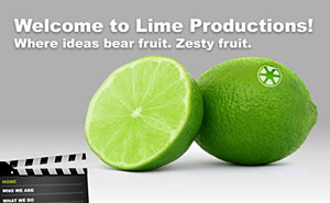 Web design for Lime Productions