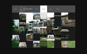 Logo design, corporate style and website design and development for Tankov Architects