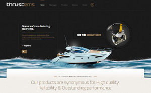 Logo design and corporate website for ThrustEMS